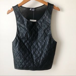 NEW Sparkle & Fade Quilt Front Crop Top